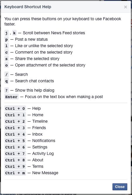 Facebook Shift Question Mark